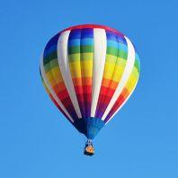 Skrydis oro balionu su apmokymu
