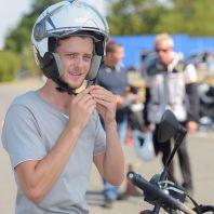 Cours de conduite de base d'une moto